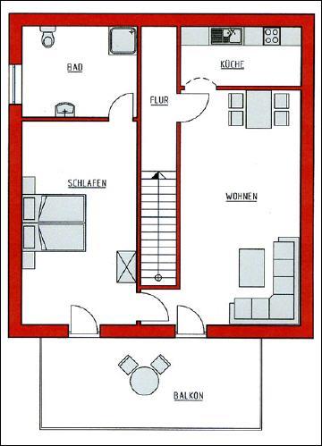 Friesenhain ferienwohnung in st peter ording for 55 qm wohnzimmer